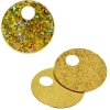 Sequins Hologram 20mm 4mm Hole Round Marigold